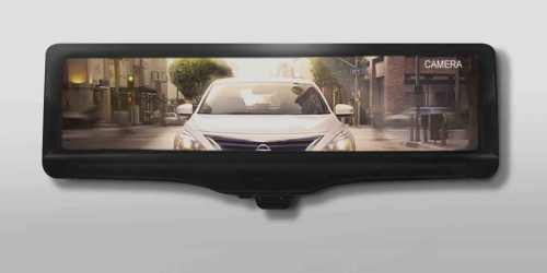small resolution of backing up with nissan s smart rearview mirror camera technology