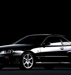 1998 nissan skyline 25gt turbo in black [ 1500 x 750 Pixel ]