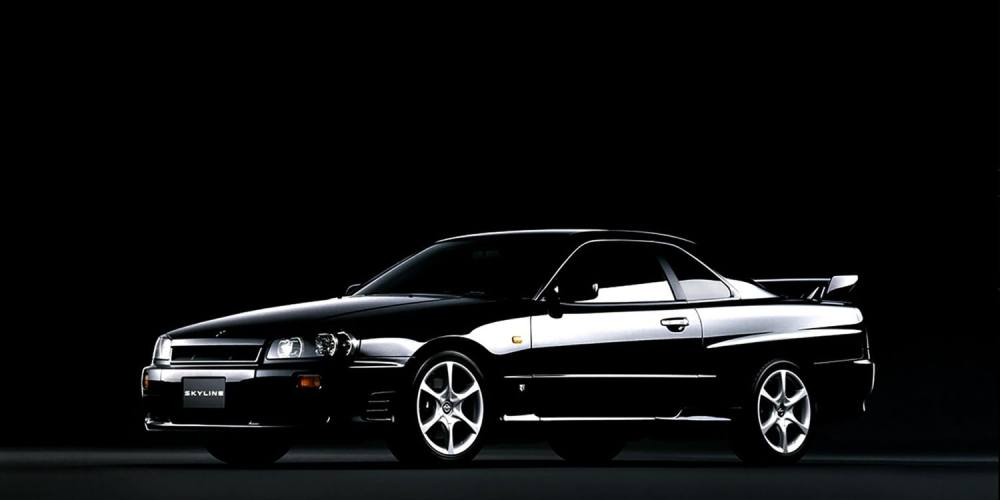 medium resolution of 1998 nissan skyline 25gt turbo in black