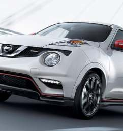 2017 nissan juke nismo shown in pearl white with red color studio accessories [ 1500 x 750 Pixel ]