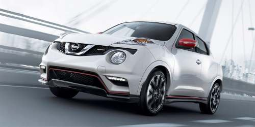 small resolution of 2017 nissan juke nismo shown in pearl white with red color studio accessories