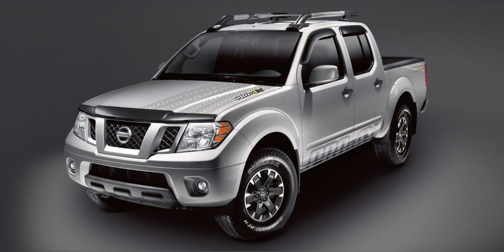 medium resolution of nissan frontier pro 4x with accessories shown