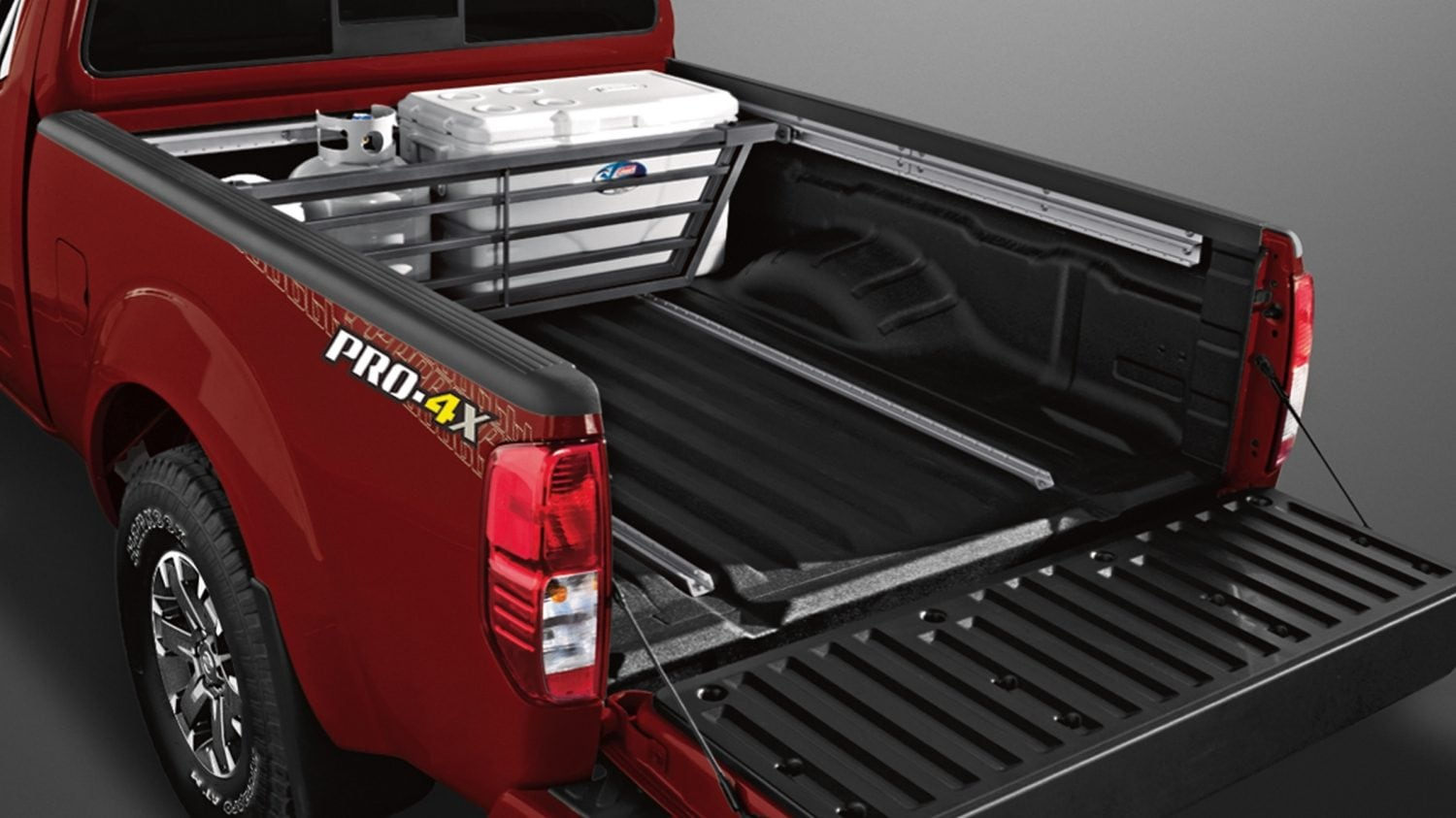 hight resolution of nissan frontier sliding bed divider