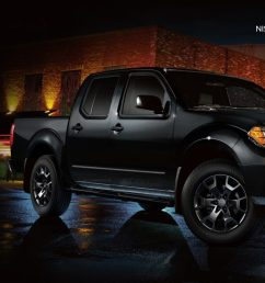 2019 nissan frontier midnight edition in magnetic black parked in city [ 1500 x 650 Pixel ]