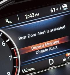 nissan maxima rear door alert [ 1500 x 750 Pixel ]