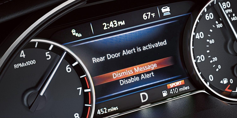 hight resolution of nissan maxima rear door alert