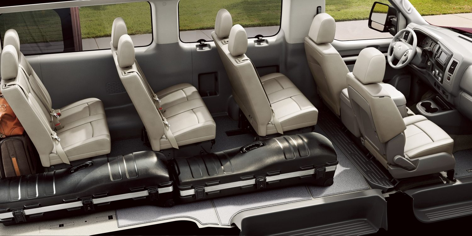 hight resolution of nissan nv passenger interior with some seats