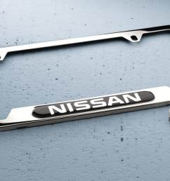 nissan chrome license plate frame and  [ 1500 x 843 Pixel ]