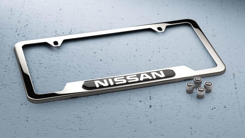 medium resolution of nissan chrome license plate frame and