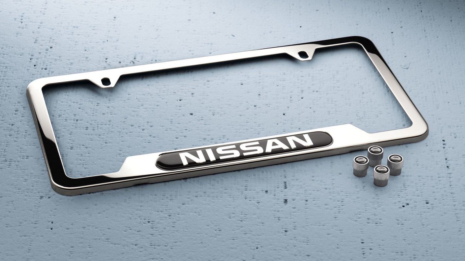 hight resolution of nissan chrome license plate frame and