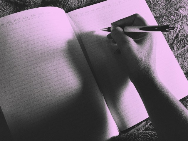 writing, blank page