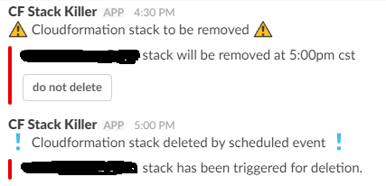 Save money, delete your stacks using Lambdas and interactive Slack