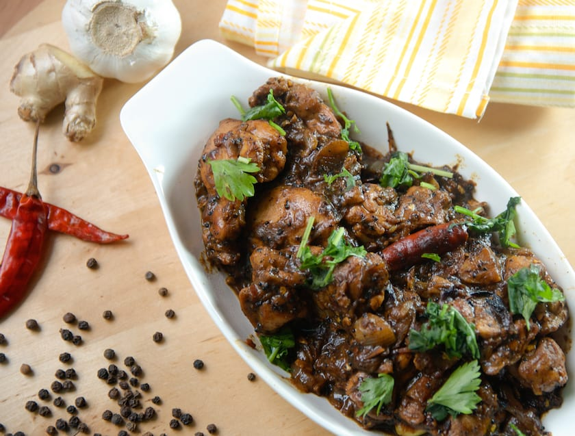 Madurai Pepper Chicken - South Indian Style Pepper Chicken Fry is the spicy peppery coated masala fry, it's simple and tasty.