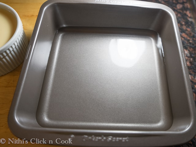 Add 1.5 cups of water into the baking tray