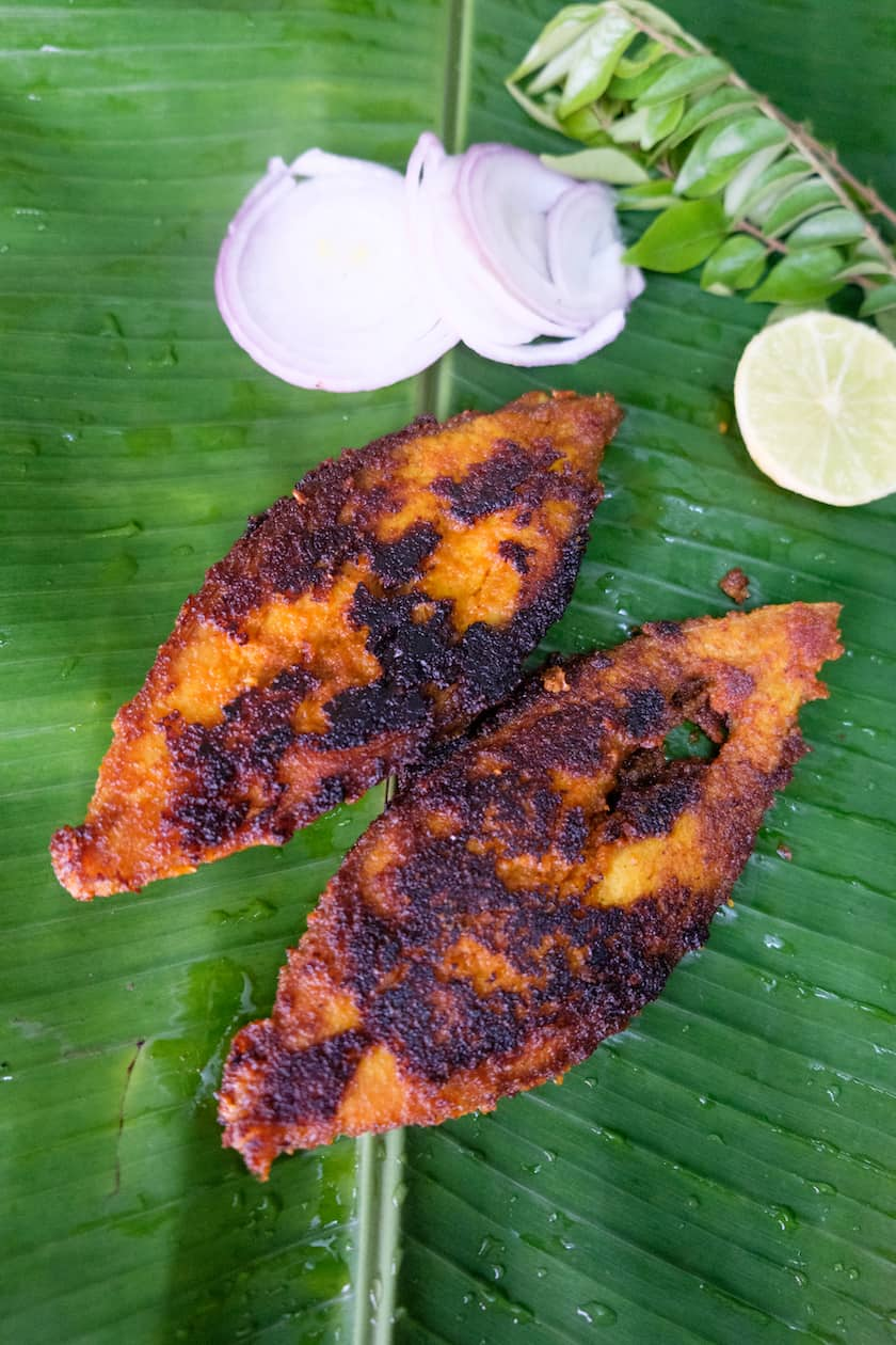Fish fry with shallots and coconut- Sumati Aunty's Fish Fry recipe