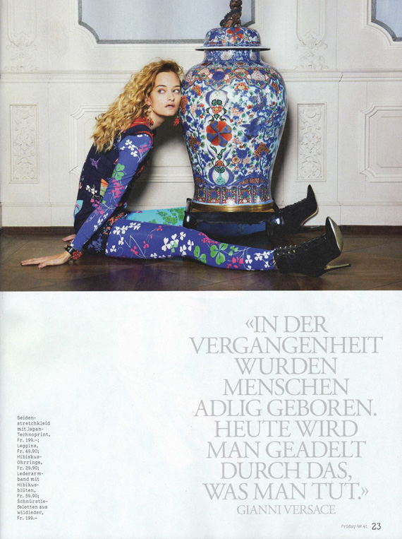 Versace for H&M in 20 Minuten Friday Magazine