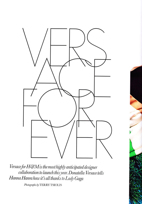Versace for H&M in ELLE UK