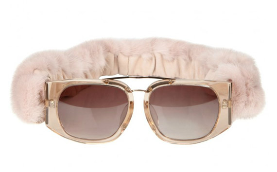 Alexander Wang Mink Fur Sunglasses