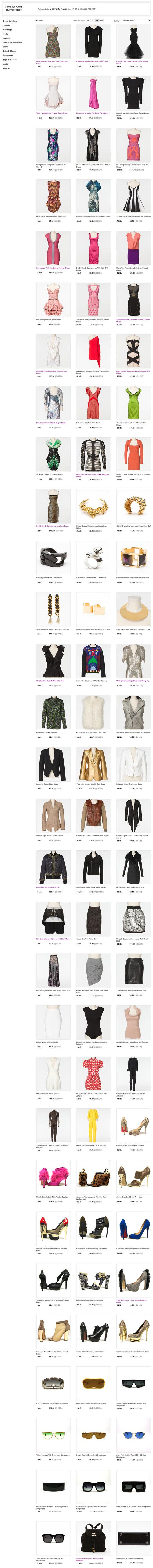 Shop Amber Roses Closet on eBay Fashion Vault