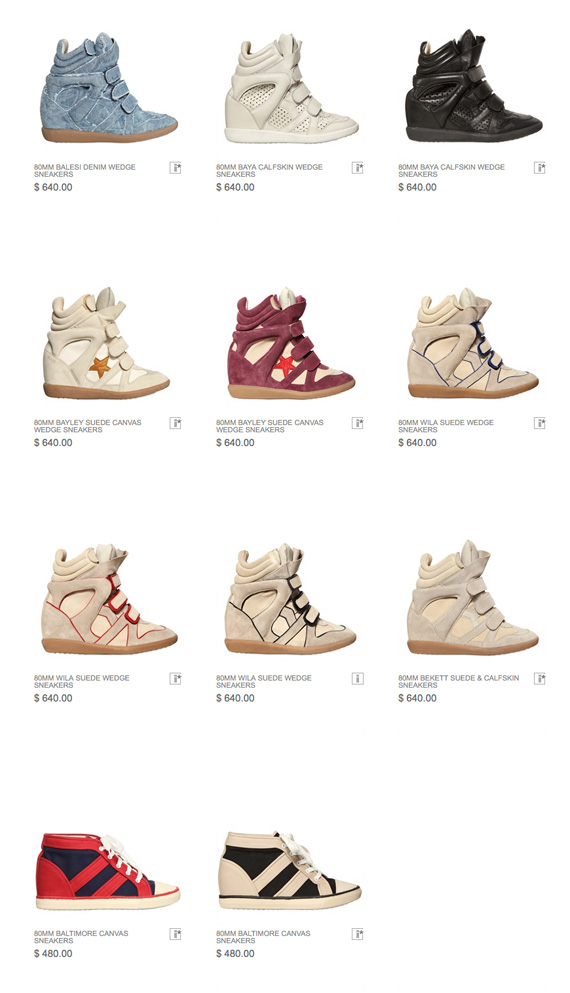 Isabel Marant Wedge Sneakers pre order at Luisaviaroma