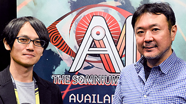 Kotaro Uchikoshi and Akira Okada of AI The Somnium Files
