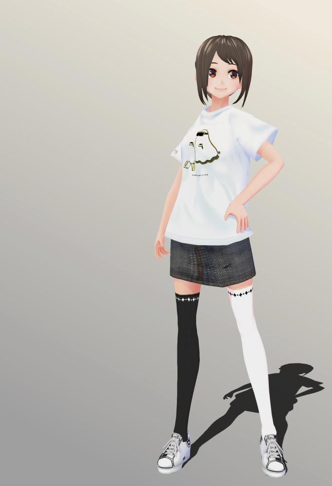 FumiFumi2019 modeling Hikagami Hinami moucou shirt