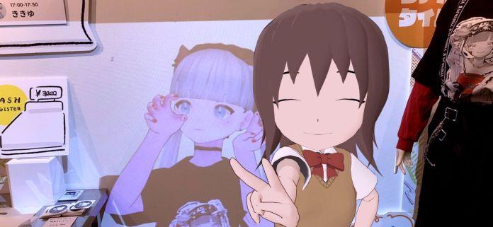 Miketsuba posing with Kikiyu atatame_m at VIRTUAL REALI-T vol2