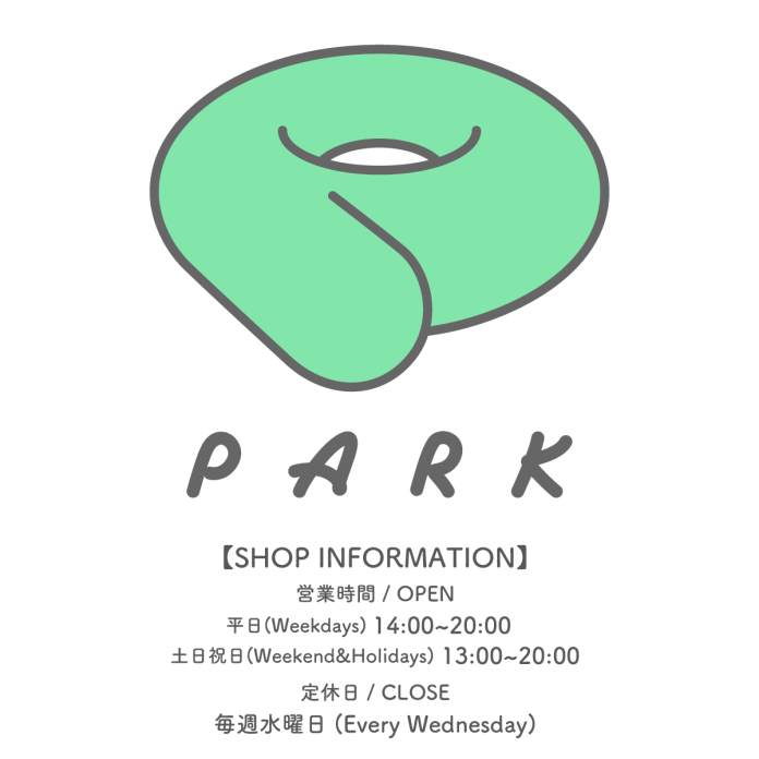 PARK Harajuku Store information with store hours