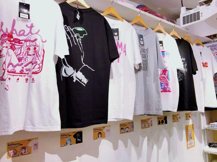 Virtual Character T-Shirts line PARK Harajuku wall