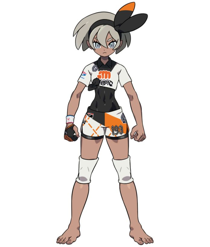 Fighting type Gym Leader Bea from Pokemon Sword Version