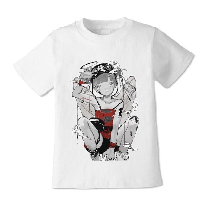 Kikiyu atatame_m VIRTUAL REALI-T vol2 white T-Shirt