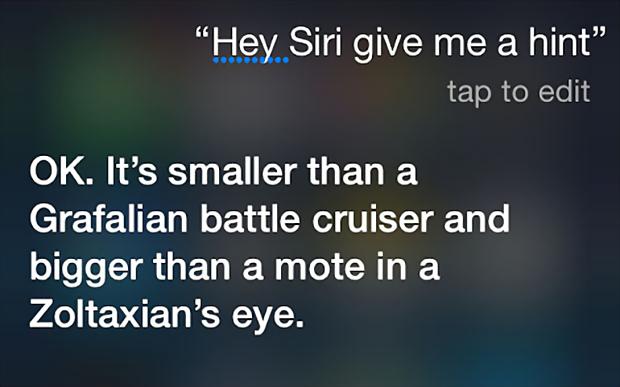 Siri says Grafalian battle cruiser and Zoltaxian eye, Zoltaxian is the reverse of NAIXATLOZ