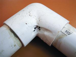 Leaking Irrigation Pipe