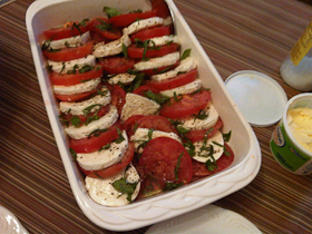 Sliced Tomatoes and Mozzarella