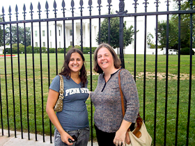 Cupcake and AS at the White House
