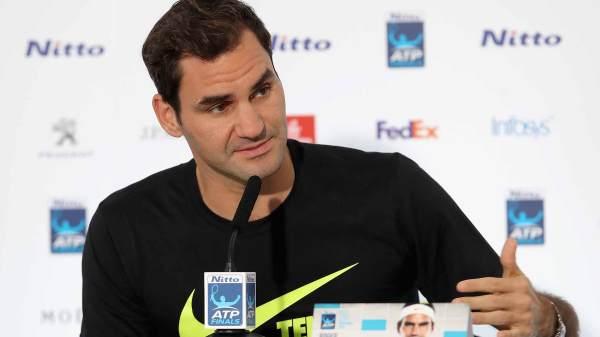 Focused Roger Federer Ready Nitto Atp Finals