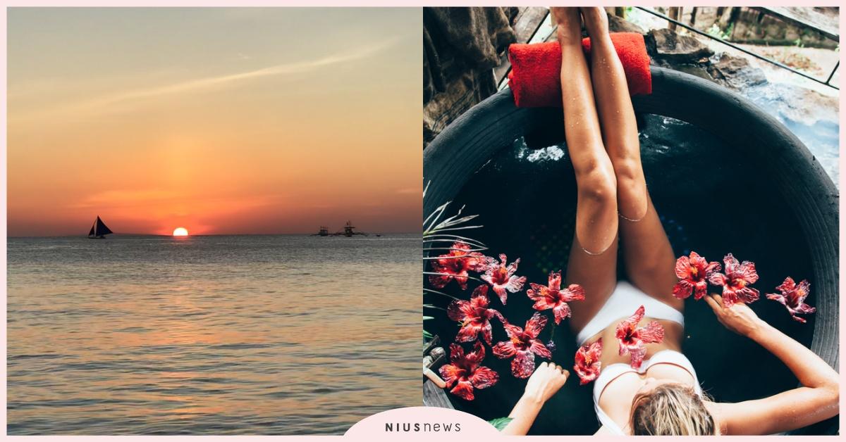 「想見你」在藍色浪潮與白色沙灘交織的繽紛海島 女孩們 一起「愛的迫降」在長灘島吧!   菲律賓, 長灘島 ...