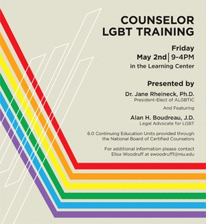 Counselor LGBT Training event planned May 2  NIU Today