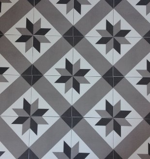 20x20 decor vintage geometrique gris