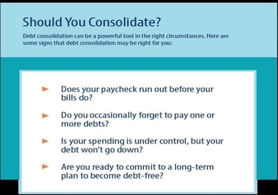 should you consolidate debt