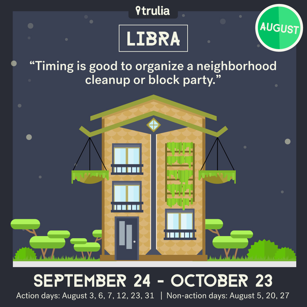 Trulia Money Horoscope August Libra