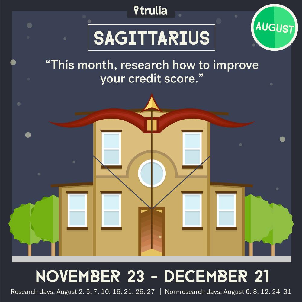 Trulia Money Horoscope August Sagittarius