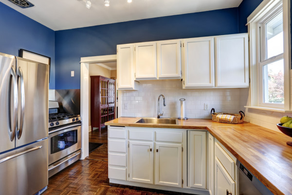 Navy Kitchen Walls