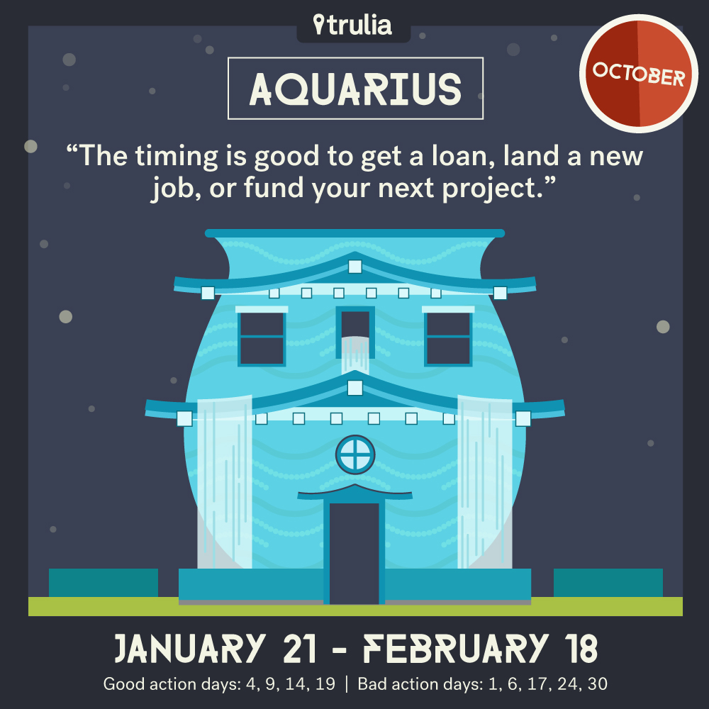 Trulia October Horoscope Aquarius