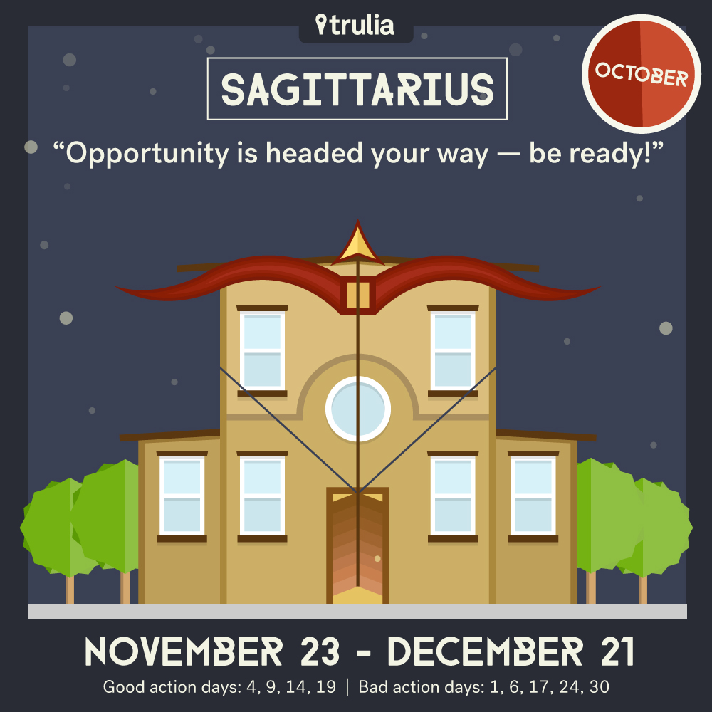 Trulia October Horoscope Sagittarius