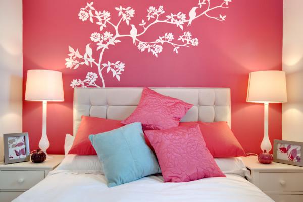 Bird Stencil Bedroom