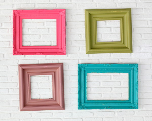 Painted Photo Frames