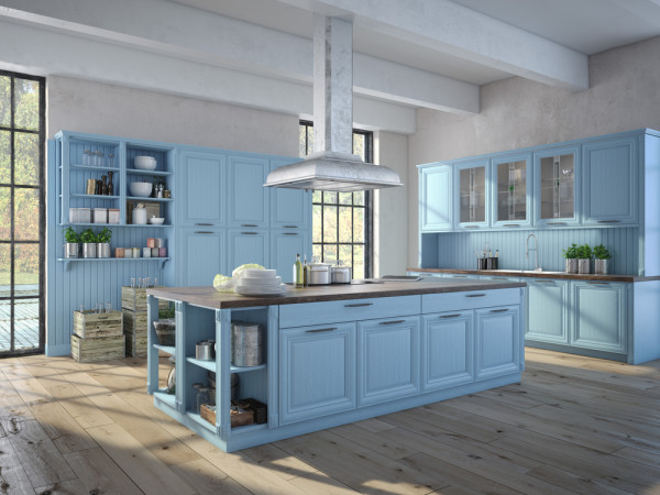Pale Blue Kitchen Cabinets