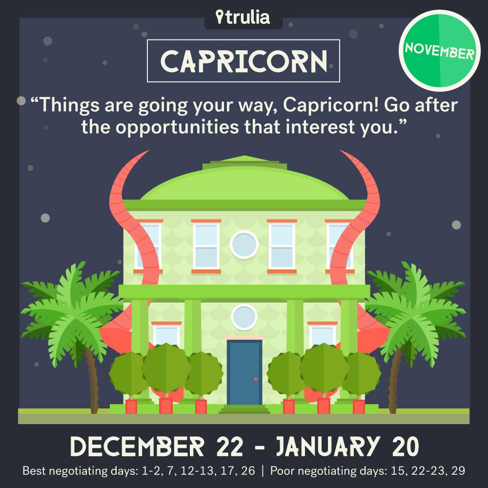 November Money Horoscope Capricorn