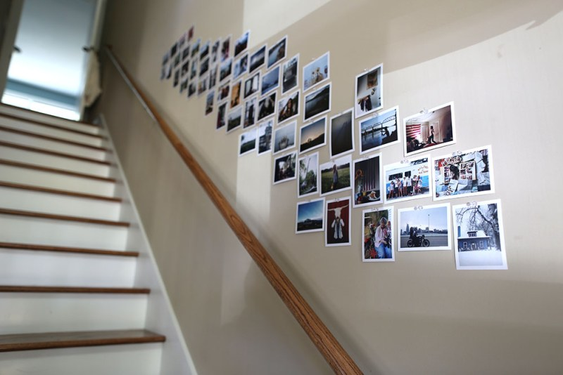 An easy way to personalize: print out photos and display them.